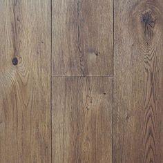 Wide Plank Engineered Wire Brushed Cognac White Oak Hardwood Floor