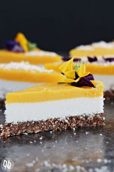 Mango Kokos Raw Cake