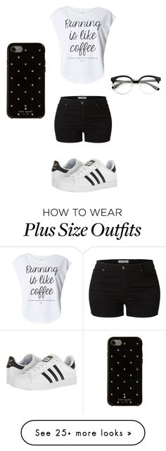 """Untitled #9"" by kay-bear-1 on Polyvore featuring LE3NO, Dorothy Perkins, adidas and Kate Spade"