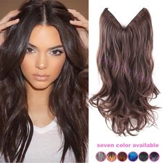 Find More Hair Weaves Information about 20 inch once piece invisible no clips light brown mixed dark brown synthetic flip in hair extensions long wavy natural wave,High Quality brazilian wave hair,China brazilian secret Suppliers, Cheap wave painting from Fantasy Hair on Aliexpress.com