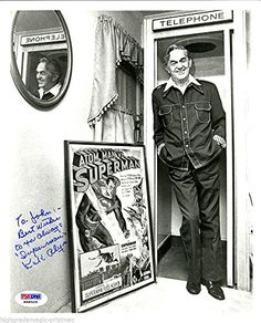 KIRK ALYN 1ST SUPERMAN IN FILM PSA/DNA SIGNED PHONE BOOTH 8X10 PHOTO @ niftywarehouse.com #NiftyWarehouse #Superman #DC #Comics #ComicBooks