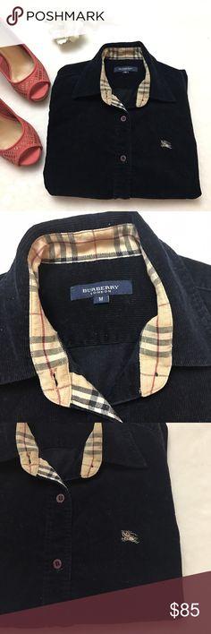 BURBERRY Navy Blue Corduroy Button Down Shirt BURBERRY Navy Blue Corduroy Button Down Shirt size medium. BURBERRY London. Excellent condition! Burberry Tops Button Down Shirts