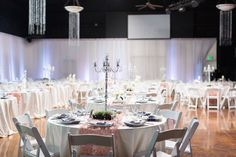 Reception Decor Tall Silver Candlesticks | The-Palms-Chico-California-Wedding-Photographer