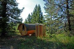 cabinporn:   Barrel cabin at Jewel Creek Organic Farm near Greenwood, BC, Canada.Contributed byOliver Glaser.
