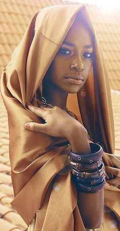 african girl with scarf