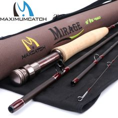 Maximumcatch Mirage Fly Fishing Rod 9FT 5WT Medium Fast Fly Rod &Cordura Rod Tube