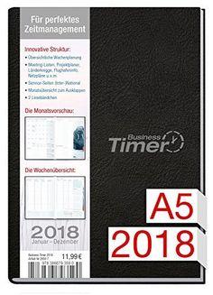 Chäff Business-Timer A5 Kalender 2018 schwarz, 12 Monate Jan-Dez 2018 - Terminkalender mit Wochenplaner - Organizer - Wochenkalender - Kalendarium für Projektplanung 2018, http://www.amazon.de/dp/3866793596/ref=cm_sw_r_pi_awdl_xs_B2H5zbZ4Z3TEN