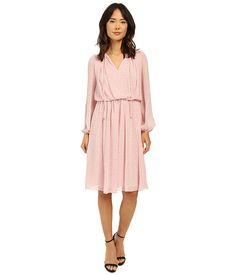 Adrianna Papell Print Crinkle Chiffon Dress