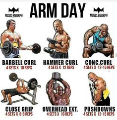 Everyday is arm day. For see more of fitness motivation images visit us on our website ! Fitness Workouts, Fitness Motivation, Weight Training Workouts, Fitness Tips, Workout Fitness, Arm Day Workout, Gym Workout Tips, Biceps Workout, Workout Exercises