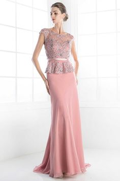Dark Rose Mother of Bride Dress with Beaded Sheer Bodice.  https://www.smcfashion.com/wholesale-mother-of-bride-dresses/evening-long-gown-cdc279