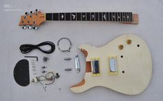 Wholesale Electric Guitar Kits - Buy DIY Guitar Kit-Custom Unfinished Electric Guitar-Luhier Builder Kit - Flame Maple Top, $135.71 | DHgate