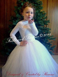 White Flower Girl Tutu Dress with Sparkle Skirt, Long Sleeves, White Christmas Dress, Weddings, Holiday Photos, Parties1t,2t,3t,4t.5t,6,8,10
