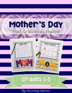 This file contains 2 different math craftivities that can be used in 2 different ways. There is one page of the Percentage Poem template and mom coloring activity included. Students can write a percentage poem by identifying 5 things that make up their Teaching Activities, Color Activities, Teaching Ideas, May Themes, Mom Day, 5 Things, Second Grade, Art School, Poem