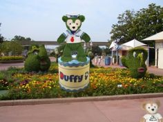 Duffy the Disney Bear as Flower and Garden Festival Topiary