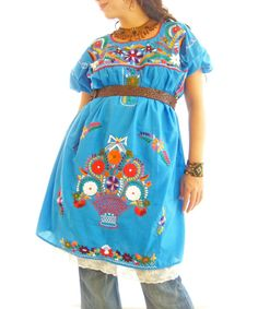 mexican-embroidered-dress-tunic-top-handmade-125-of-221