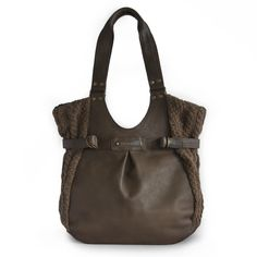 Image of Tab Shopper Bagin Leather/Banana Yarn and fair trade to boot!