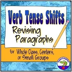 Verb Tense Shifts Paragraph Revising Worksheets by HappyEdugator Subject Verb Agreement, Subject And Verb, Teaching Activities, Teaching Resources, Teaching Verbs, Teaching Ideas, Common Grammar Mistakes, 5th Grade Ela, Fourth Grade