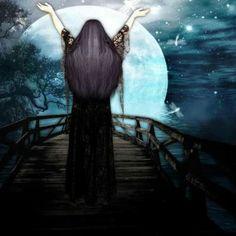 Drawing Down the Moon © Amaterasu Triple Goddess, Moon Goddess, Goddess Art, Wiccan, Magick, Witchcraft, Drawing Down The Moon, Deviantart Drawings, Full Moon Ritual