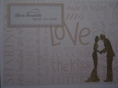 Embossed Wedding Couple Card  www.caguimbalcreations.weebly.com