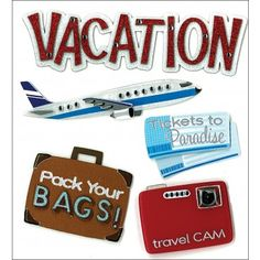 Vacation Jolees Boutique Dimensional Stickers