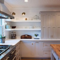 Farmhouse Kitchen with a Mid-Century Twist - farmhouse - Kitchen - Boston - Crown Point Cabinetry