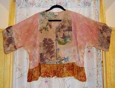 Vintage Barkcloth Jacket by RenaissanceRags on Etsy, $125.00