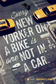Photos de la campagne : BIKE LIKE A NEW YORKER. Eco-mobilité urbaine