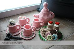 Tea Time Play Set By Jackie - Free Crochet Pattern - (amidorablecrochet)