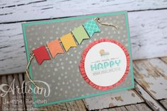 Banner full of HAPPY by copsmonkey - Cards and Paper Crafts at Splitcoaststampers