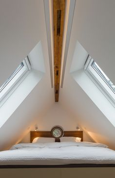 Here is the way to the goal: In this family home we have a new . - Here is the way to the goal: In this family home we have designed a new staircase and the correspon - Attic Spaces, Attic Rooms, Loft Design, House Design, Triangle House, New Staircase, Attic Conversion, Loft Room, Attic Apartment