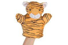 "ANIMAL HAND PUPPET: Tiger - Plush, 8""."