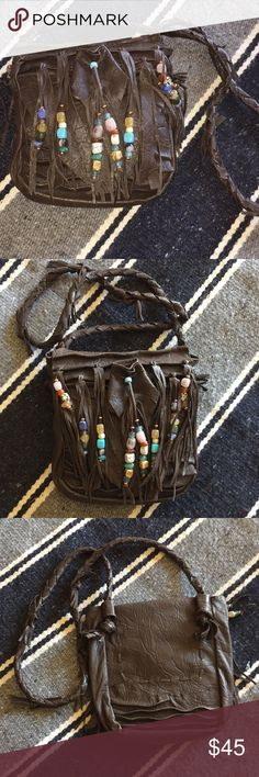 Genuine leather handmade beaded southwestern purse hippie chic handmade genuine leather purse with beaded and leather tassels braided leather strap bags crossbody bags braids with beads handmade 5 diy easy rings geflochten ohne werkzeug Leather Tassel, Braided Leather, Leather Purses, Dreadlock Beads, Dread Beads, Braided Hairstyles For Wedding, Braid Hairstyles, Kid Braid Styles, Braids With Extensions