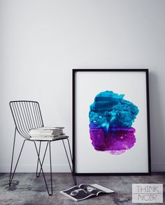 Modern Minimalist Print/ Colourful Painting Stripes/ by ThinkNoir