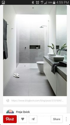 Design of bathroom.  Not the colour though as its too dark. Love the built in…