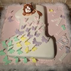 Butterfly's and lions first birthday cake