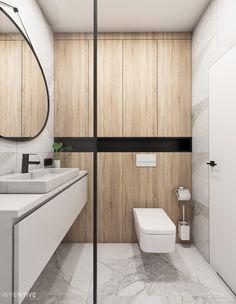 INVENTIVE studio – projektowanie wnętrz Bathroom Design Small, Modern Bathroom, Bathroom Interior, Interior Design Living Room, Bathroom Inspiration, Interior Inspiration, Record Player Cabinet, Family House Plans, Scandinavian Bathroom