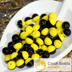 ✔ What's Hot Today: 40pcs Black Yellow Czech Glass Round Beads Spacer Two Tone Color Christmas 6mm https://czechbeadsexclusive.com/product/black-yellow-czech-glass-round-beads-black-yellow-spacer-bead-two-tone-beads-two-color-beads-black-yellow-beads-6mm-20pc/?utm_source=PN&utm_medium=czechbeads&utm_campaign=SNAP #CzechBeadsExclusive #czechbeads #glassbeads #bead #beaded #beading #beadedjewelry #handmade