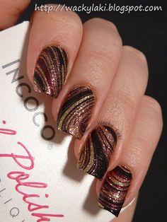 Stripes & swirls dark