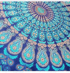 Hey, I found this really awesome Etsy listing at https://www.etsy.com/listing/240497251/indian-ethnic-blue-peacock-mandala