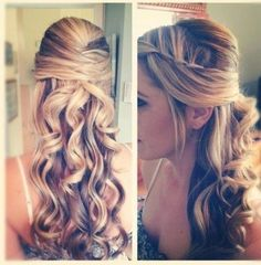 This would be nice with flowers along braid and if the veil was sitting right where the curls begin