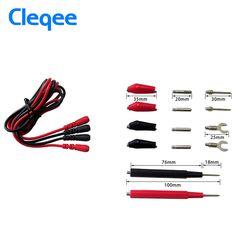 Cleqee P1500 kit de Cables de Prueba Alligator Cable Herramienta Tester Multímetro Digital Multifunción Sonda de Prueba de Silicona Pinzas de Prueba