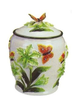 Amazon.com: Butterfly 3-D cookie jar: Home & Kitchen
