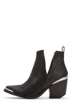Jeffrey Campbell Shoes CROMWELL in Black Distressed