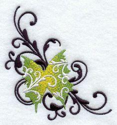 Filigree Wings Corner design (D6780) from www.Emblibrary.com