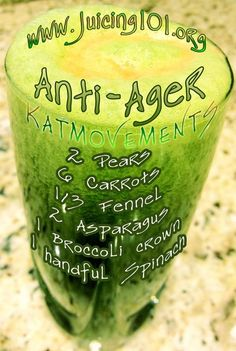 ANTI-AGER JUICE TONIC RECIPE!  To Your Health! Kat =^.^=  http://www.facebook.com/JUICING101