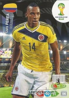 Card 80: Luis Perea - Panini FIFA World Cup Brazil 2014. Adrenalyn XL - laststicker.com