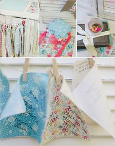 guestbook quilt squares & clothespins
