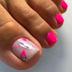Toe Nails White, Glitter Toe Nails, Gel Toe Nails, Acrylic Toe Nails, Diy Nails Manicure, Pretty Toe Nails, Cute Toe Nails, Feet Nails, Toe Nail Art