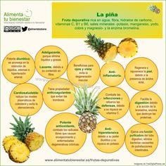 Propiedades saludables de la piña #alimentatubienestar