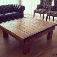"MESA RATONA ""OXIDO"" DETALLE HIERRO OXIDADO - Decopallet Table, Furniture, Home Decor, Rustic Wood, Salvaged Wood, Drawings, Decoration Home, Room Decor, Tables"